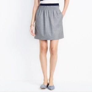 J Crew Gray Wool-Blend Skirt